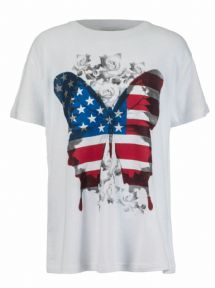Brody & Co. Girls USA Flag Butterfly T-Shirt
